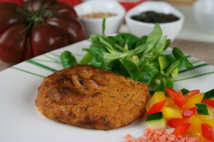 Burger Végétal Lentilles corail, Quinoa & Choux fleurs