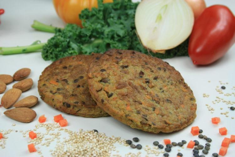 Galette Végétale Quinoa, Lentilles, Carottes, Amandes & Curry